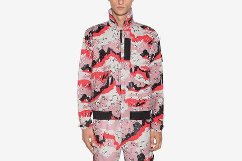 Camouflage Printed Bomber Jacket