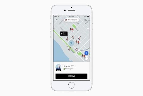 uber scooter rental