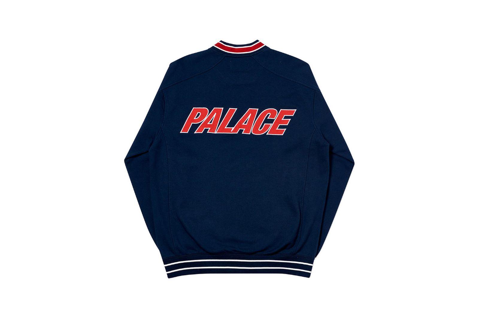 Palace 2019 Autumn crew optimo navy back2067 1