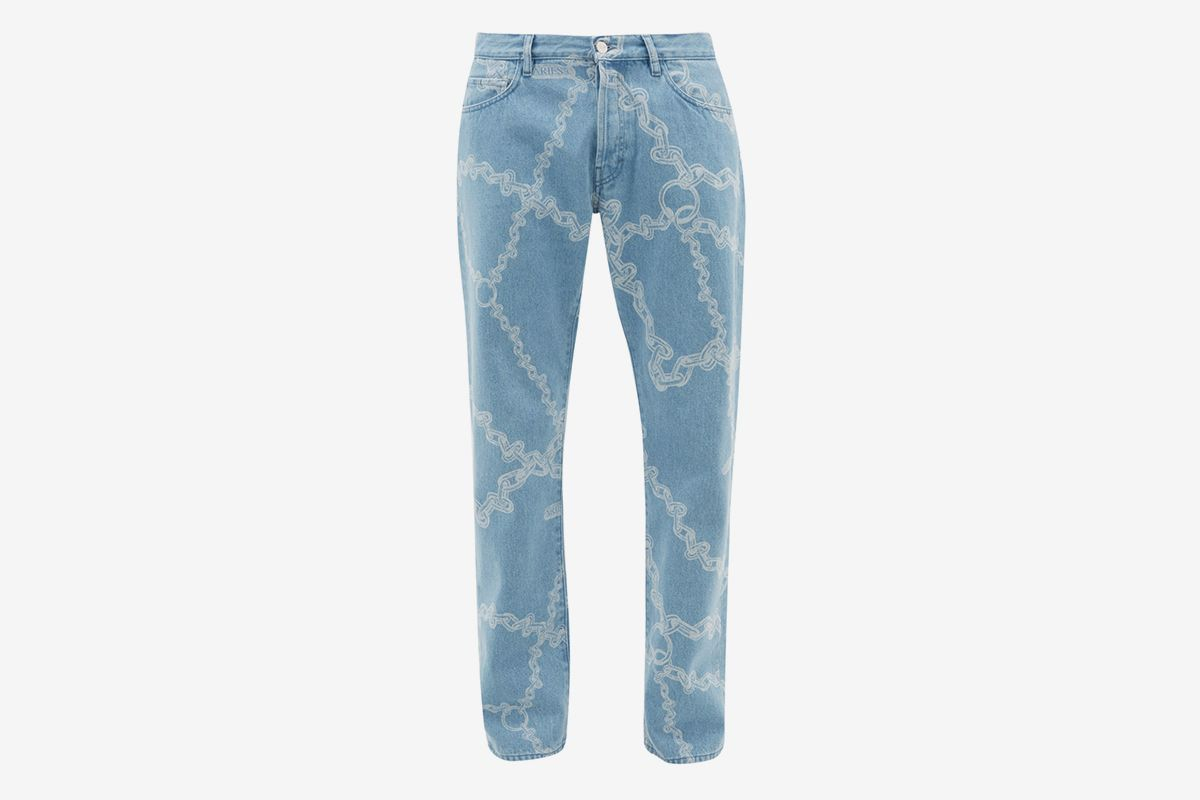 Lilly Chain Print Straight Leg Jeans
