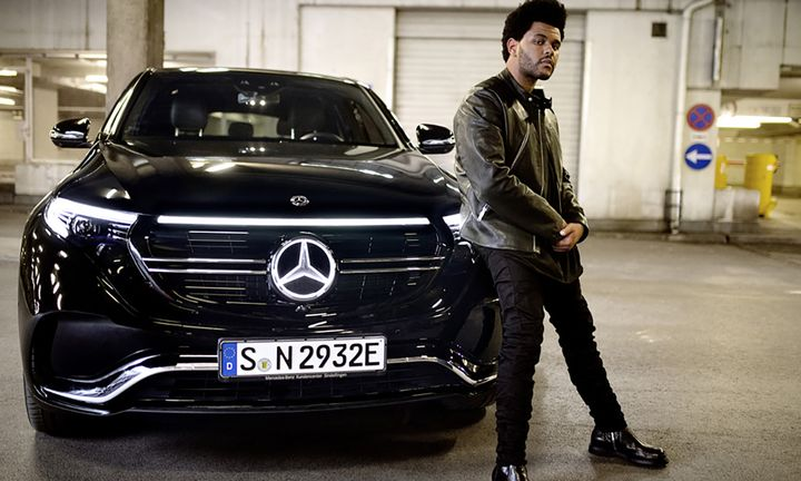 The Weeknd Mercedes-Benz EQC campaign