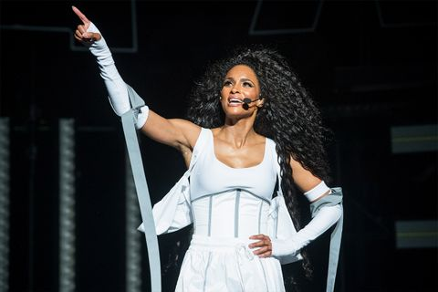 Ciara on stage white corset