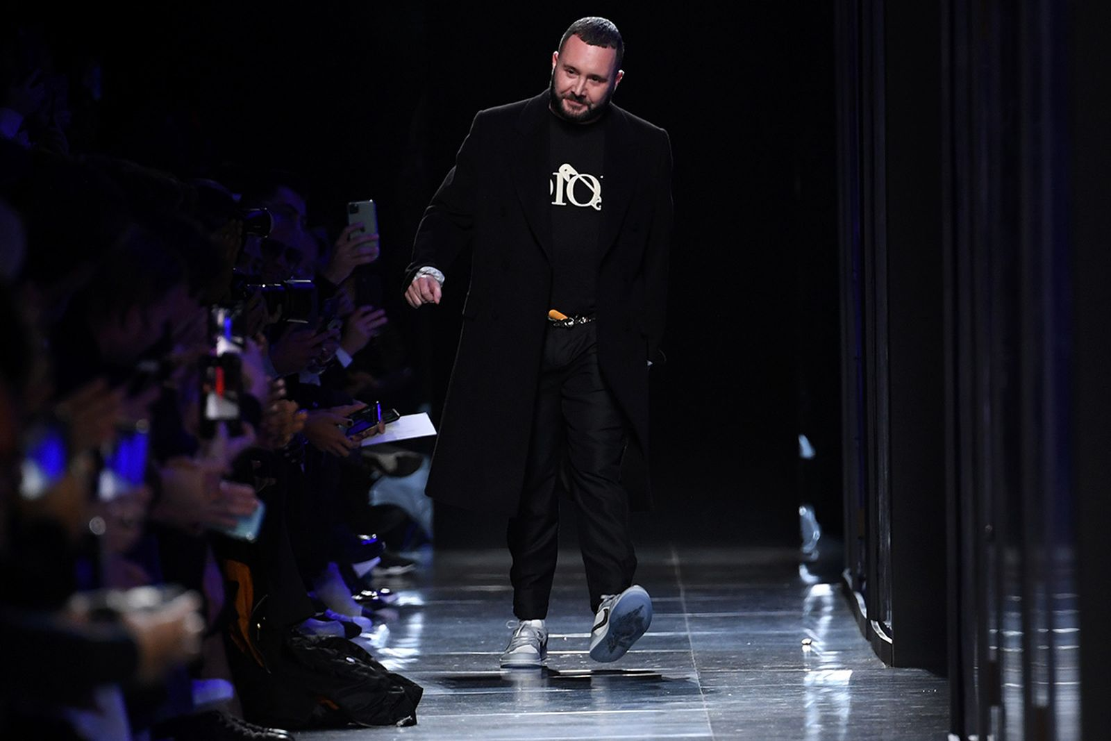 Fashion designer Kim Jones walks the runway during the Dior Homme Menswear Fall/Winter 2020-2021 show