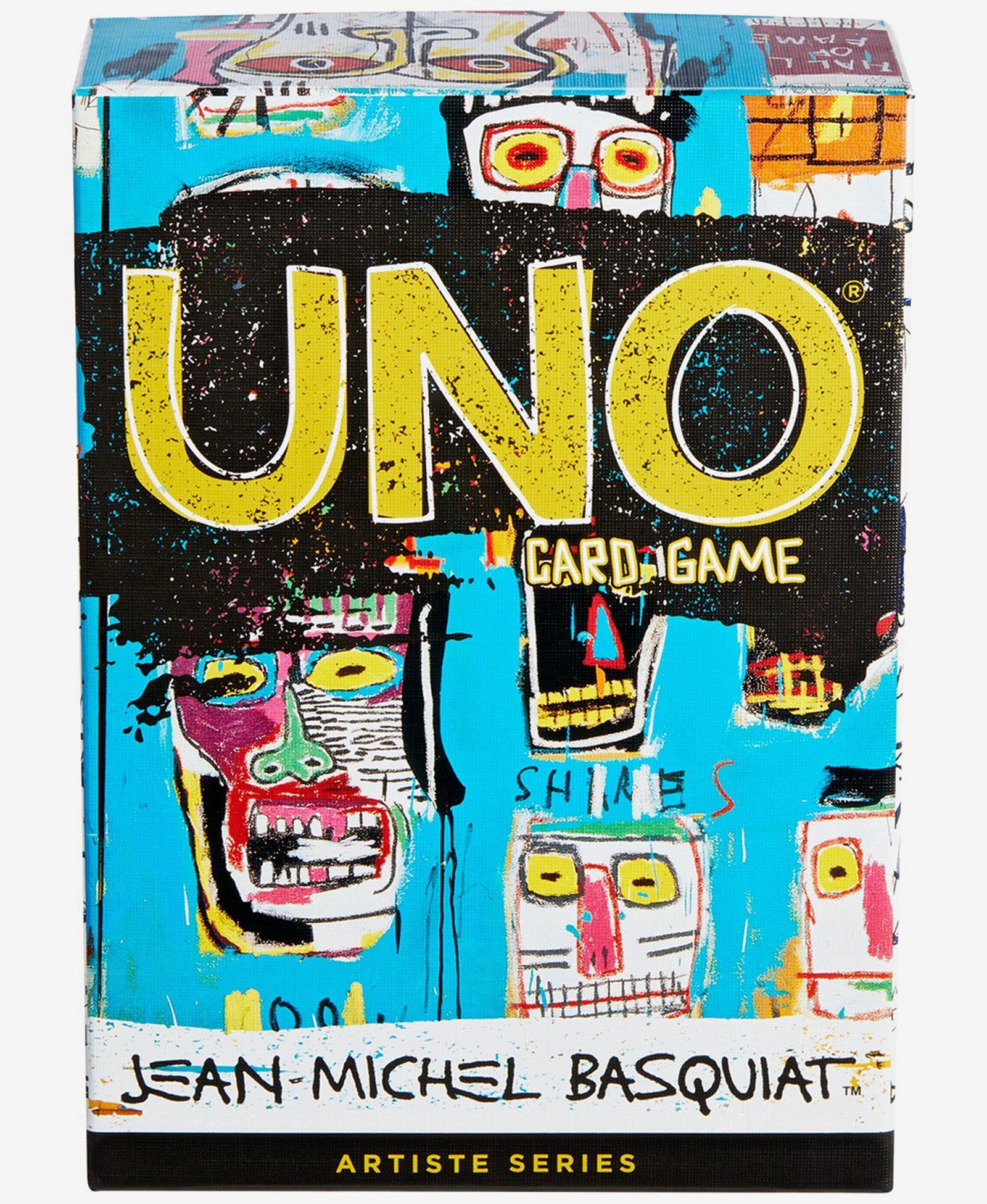 jean michel basquiat uno cards mattel