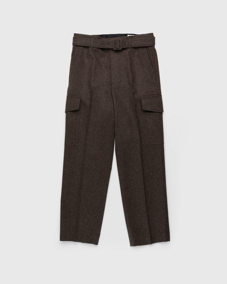 Auralee – Wool Pants Dark Brown