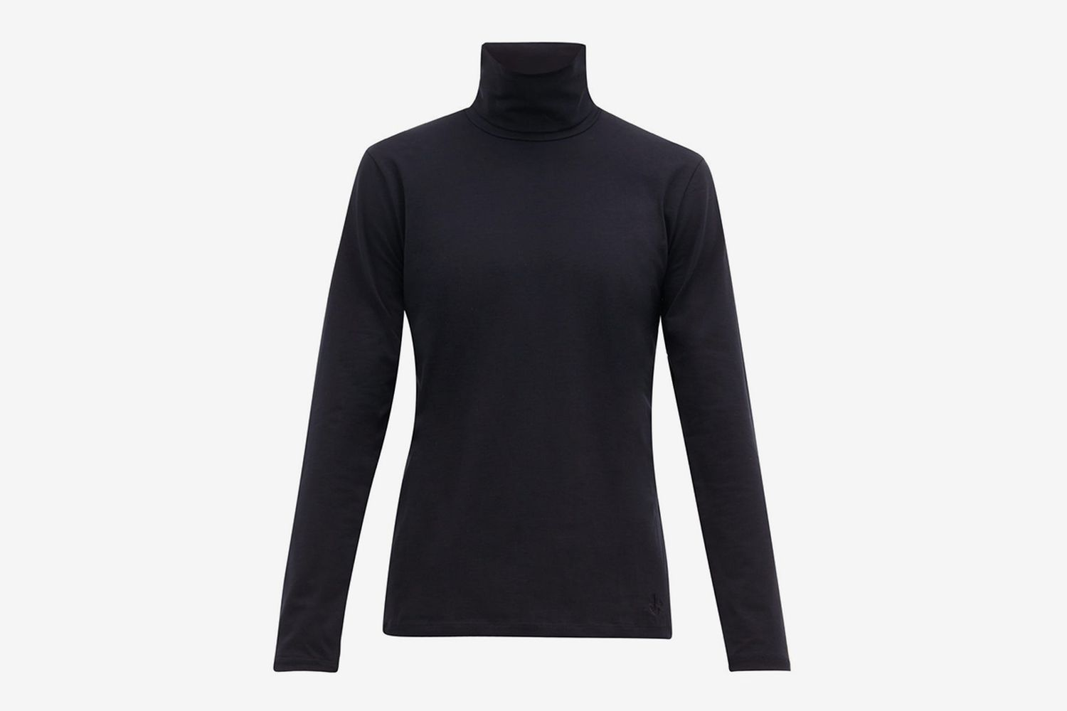 Logo-Embroidered Cotton-Blend Roll-Neck Top