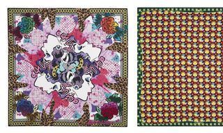 Louis Vuitton Foulards D'Artistes featuring RETNA, Aiko, and Os Gemeos