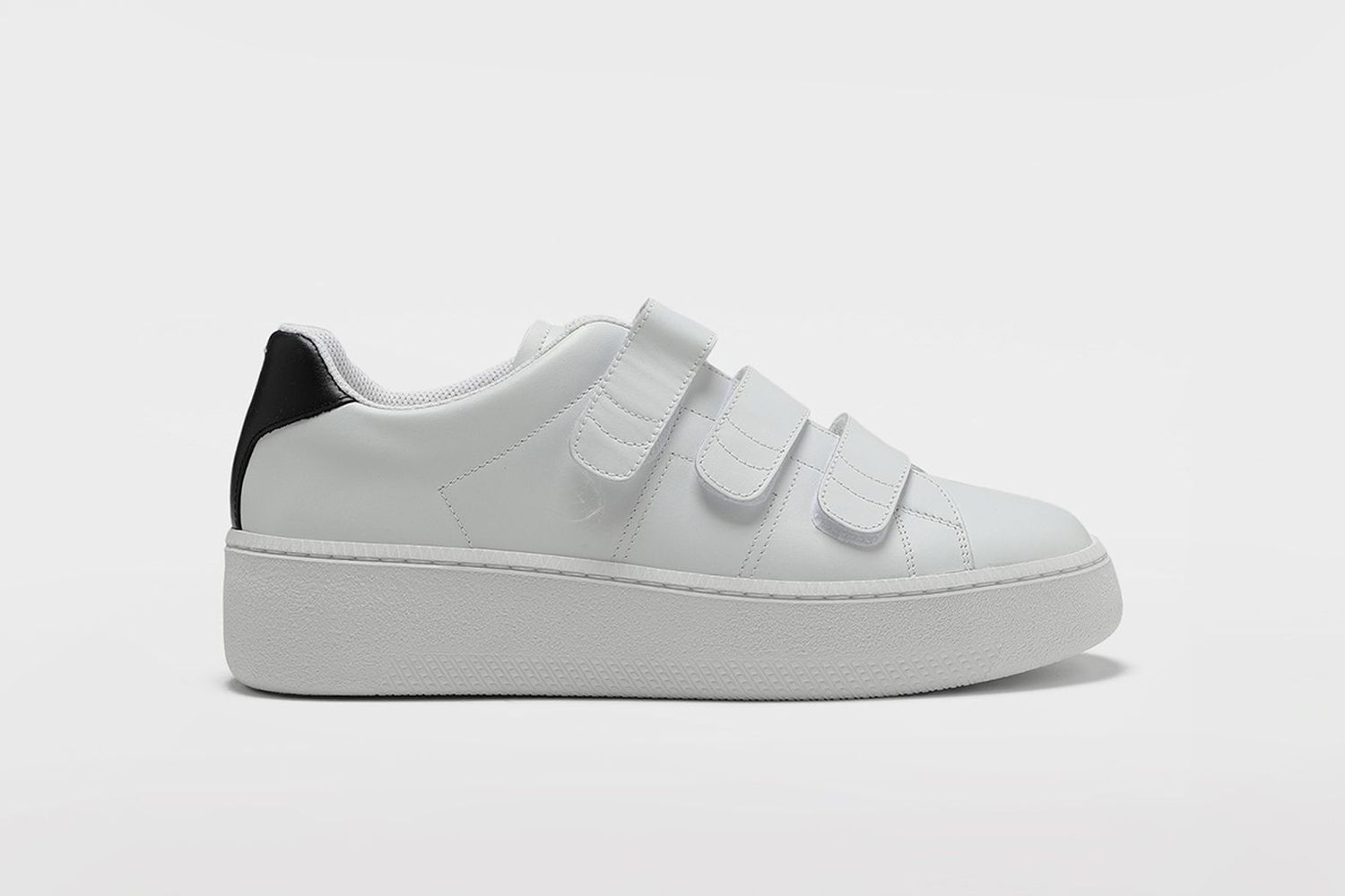 Wedge Leather Tennis Shoes