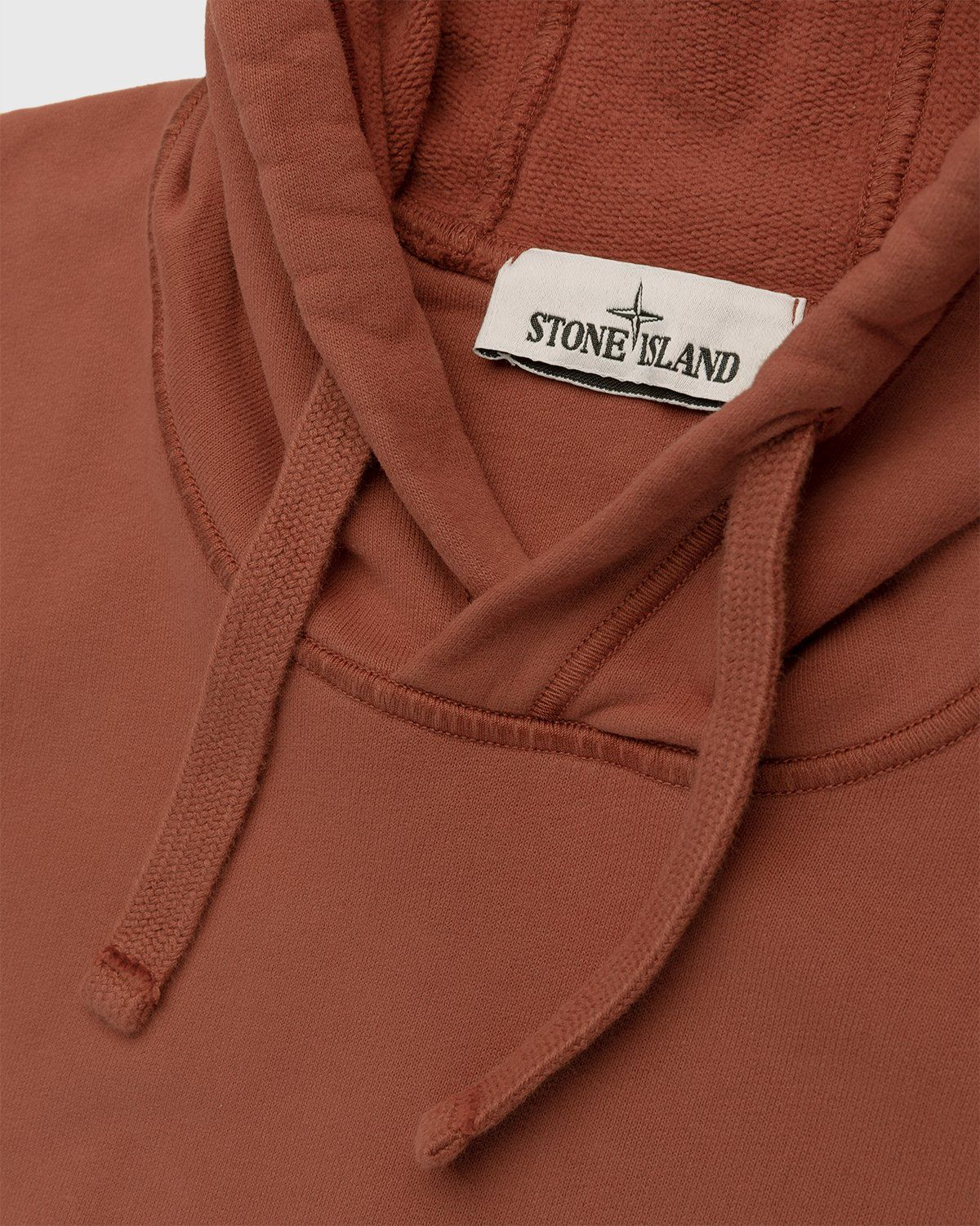 Stone Island – Dust Color Treatment Hoodie Brick Red - Image 3