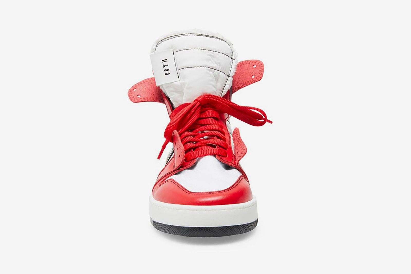Steve Madden high-top sneaker red white