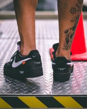 """535b3ba3193 OFF-WHITE x Nike Air Force 1 """"Black""""  On-Foot Pictures Surfaced"""