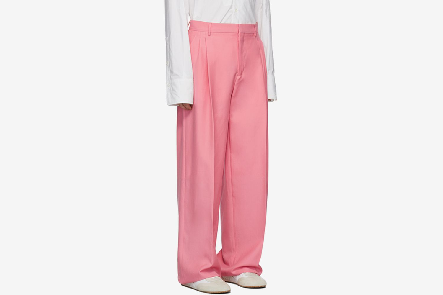 Pink Pleated Trousers