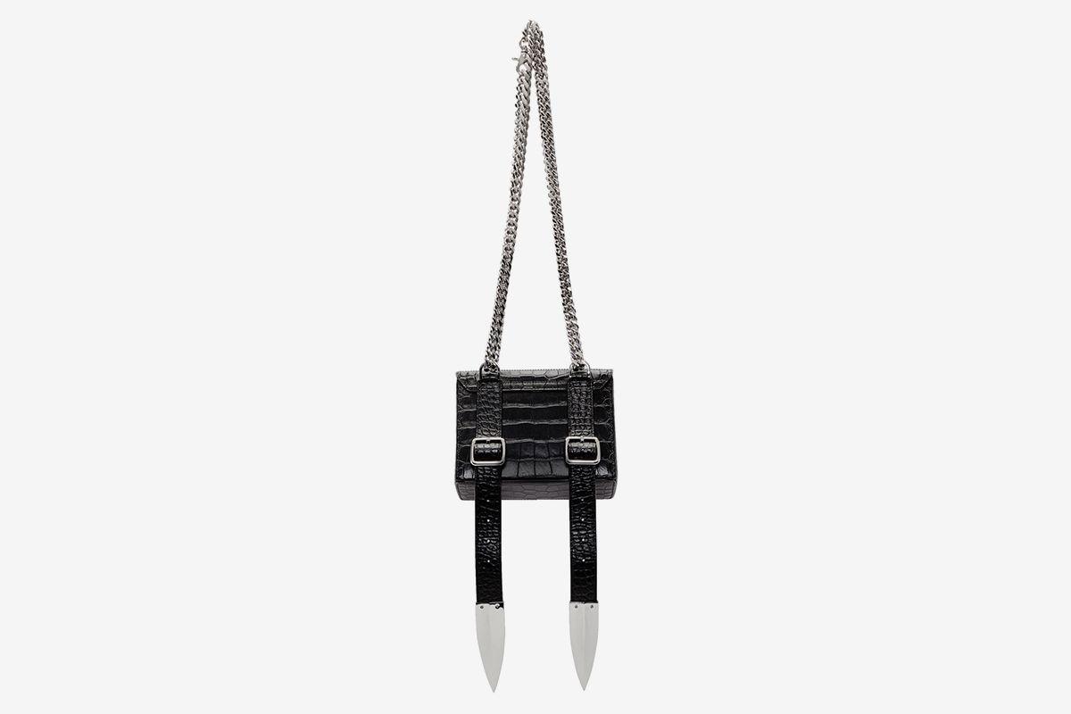 Croc Leather Shoulder Bag