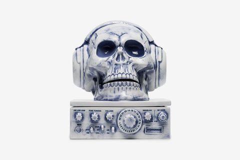 Skull With Headphones Incense Burner