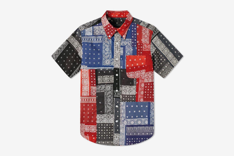 Patchwork Short Sleeve Shirt