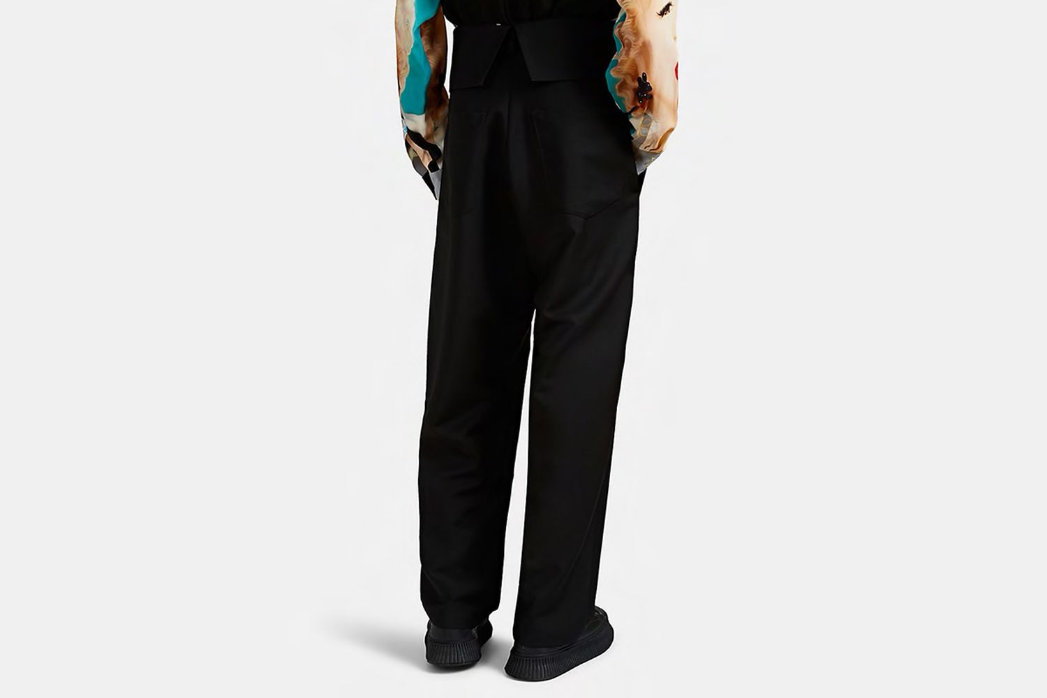 Foldover Pleated Trousers