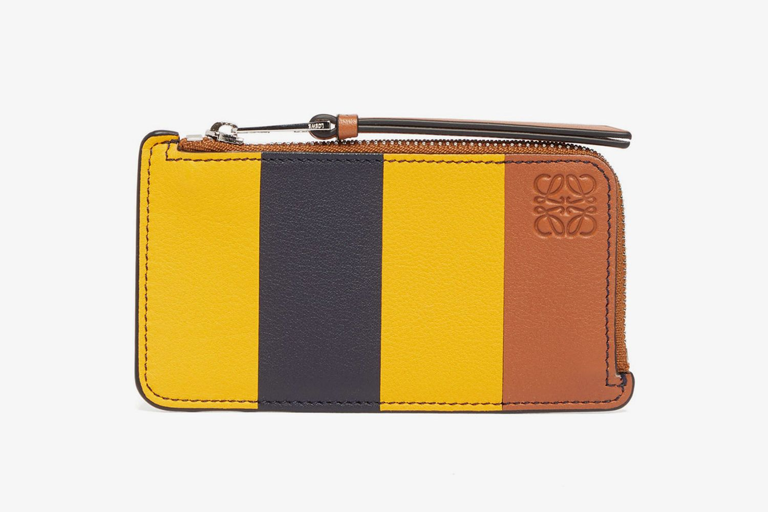 Striped Leather Cardholder