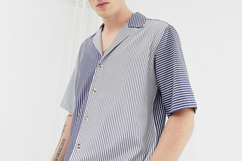 Spliced Stripe Shirt