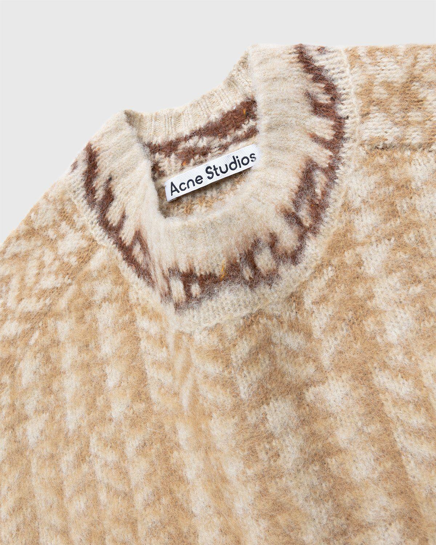 Acne Studios – Knit Sweater Beige - Image 4