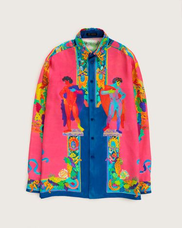 Versace Silk Shirt Multicolour