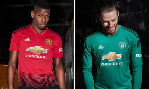 promo code 388e5 4a010 adidas Debuts Manchester United's New Home Kit