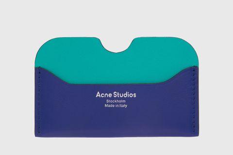 Blue Logo Card Holder