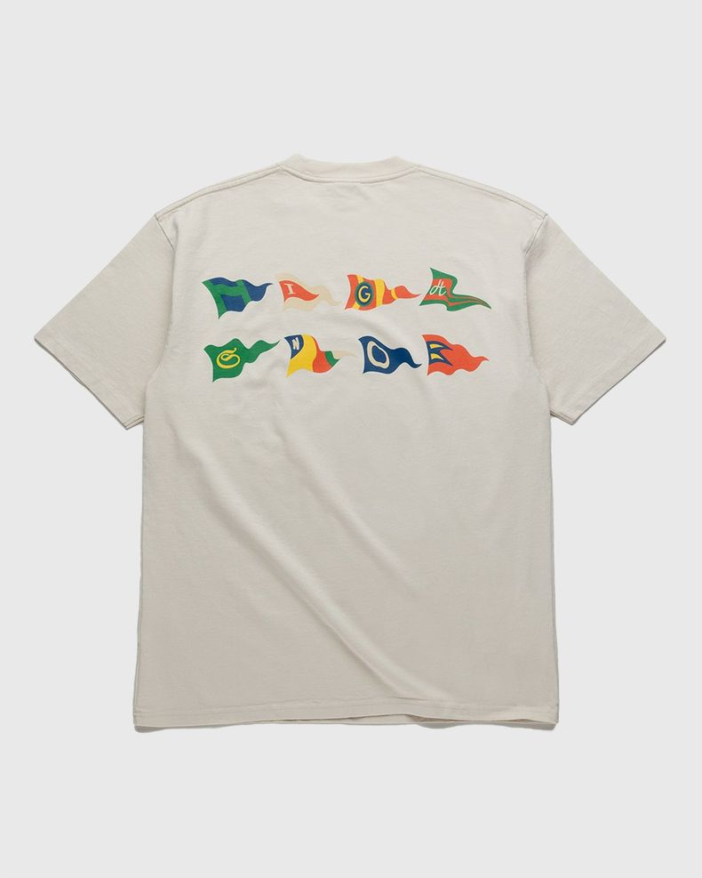 Highsnobiety – Flags T-Shirt Eggshell