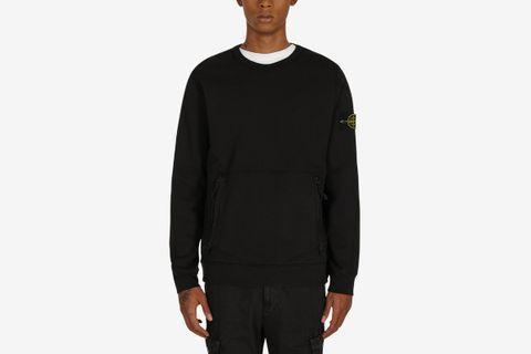 Front Pocket Crewneck Sweatshirt