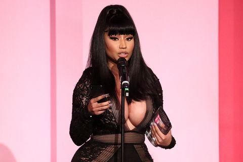 Nicki Minaj accepts the Game Changer Award at the Billboard Women In Music 2019