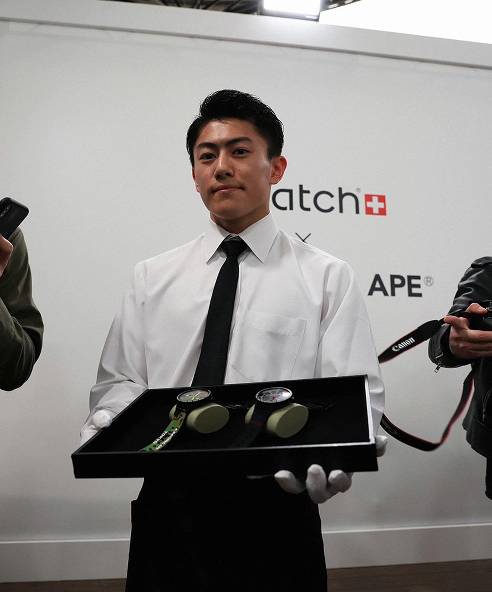 swatch bape big bold tokyo launch Swatch BIG BOLD