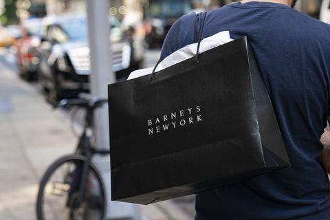 Barneys New York black shopping bag