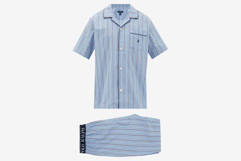 Paul Logo-Embroidered Striped Cotton Pyjamas