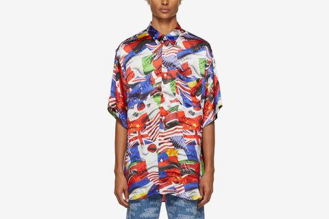 Multicolor Flags Fluid Shirt