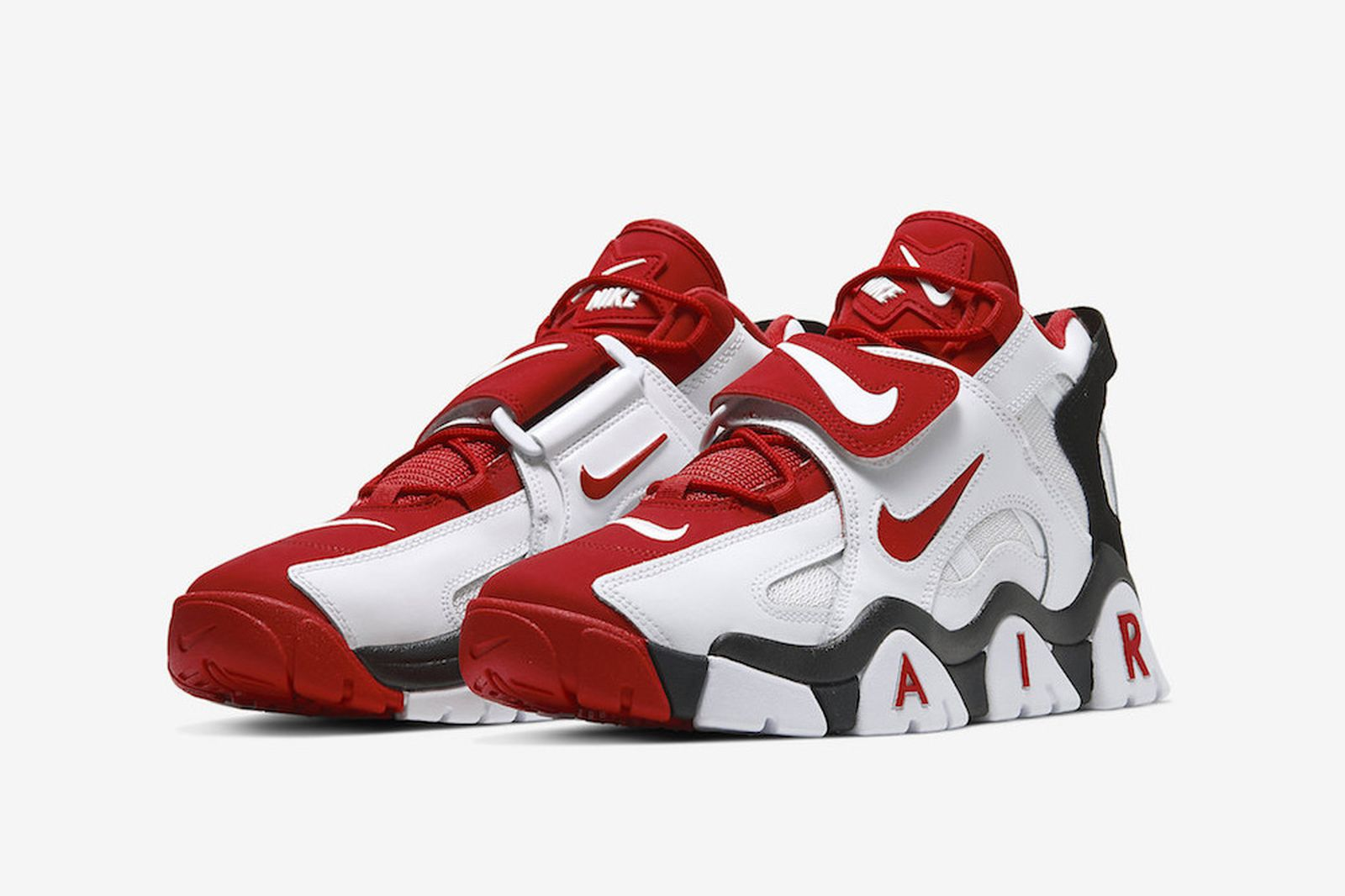 Nike Air Barrage Mid white black red
