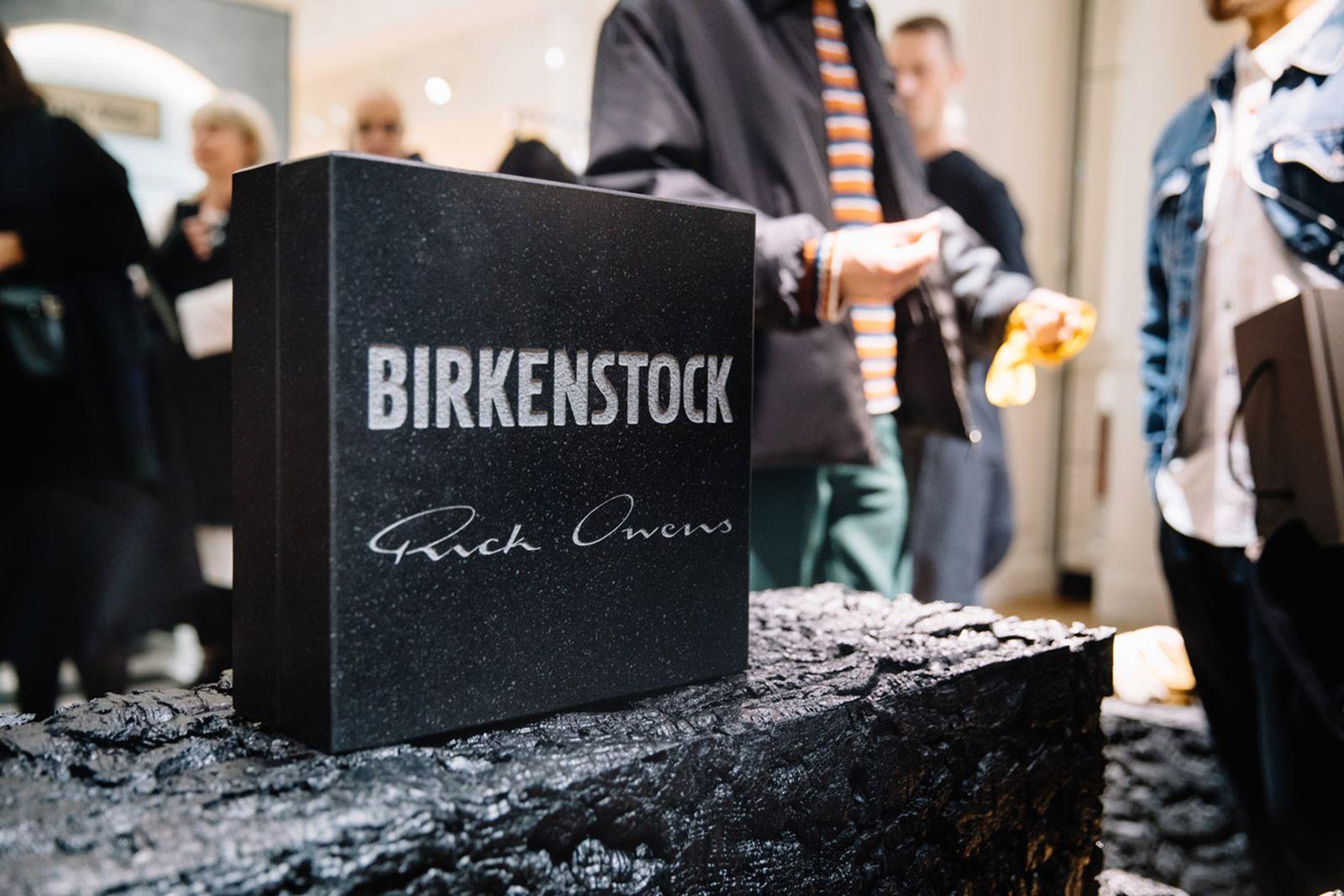 rick owens birkenstock pfw fw19 closer look