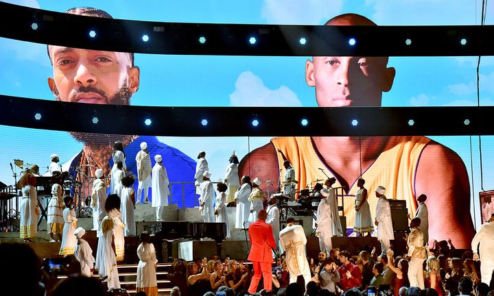 Nipsey Hussle and Kobe Bryant tribute at the Grammy Awards