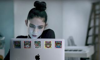 """Apple Taps Grimes for New """"Behind the Mac"""" Ads About Creatives"""