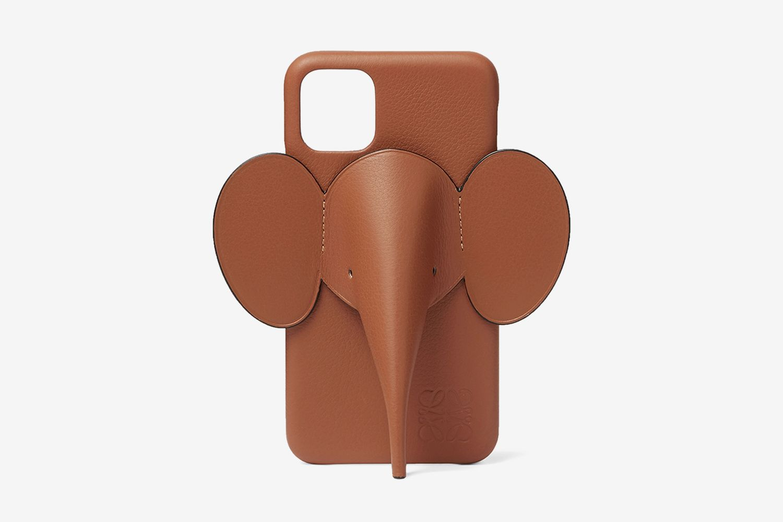 Elephant Full-Grain Leather iPhone 11 Case