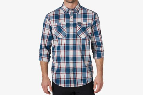 Long-Sleeve Plaid Utility Shirt