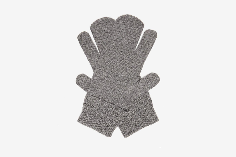 Split Wool-blend Mittens