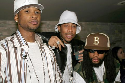 "Usher, Ludacris and Lil' Jon during Usher's ""Confessions"" Album Release Party"
