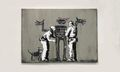 Banksy Debuts Jean-Michel Basquiat-Inspired Art Piece