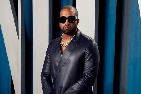 Kanye West leather suit sunglasses