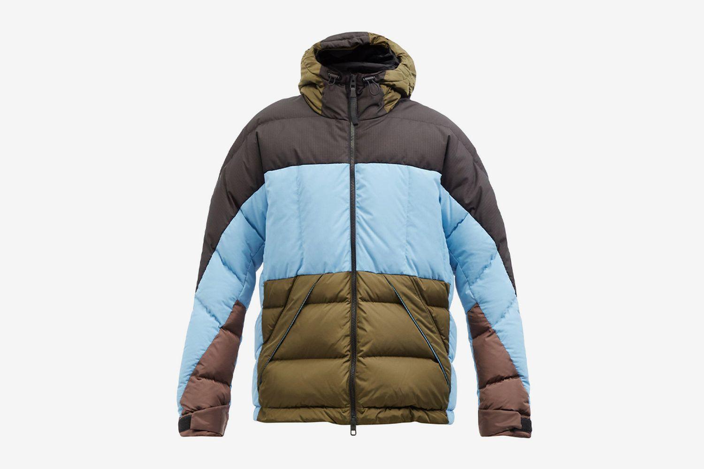 Color-Block Down Jacket