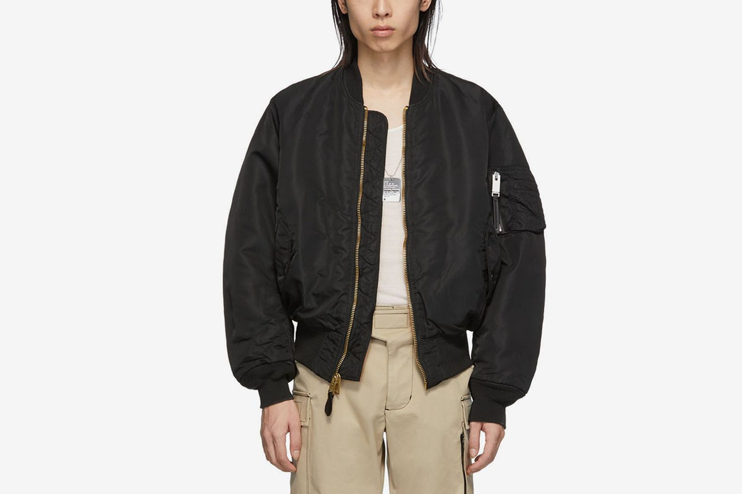 Reversible Black MA-1 Bomber Jacket