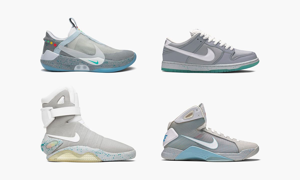 terraza Mañana Repelente  Shop These Back to the Future-Inspired Nike Sneakers