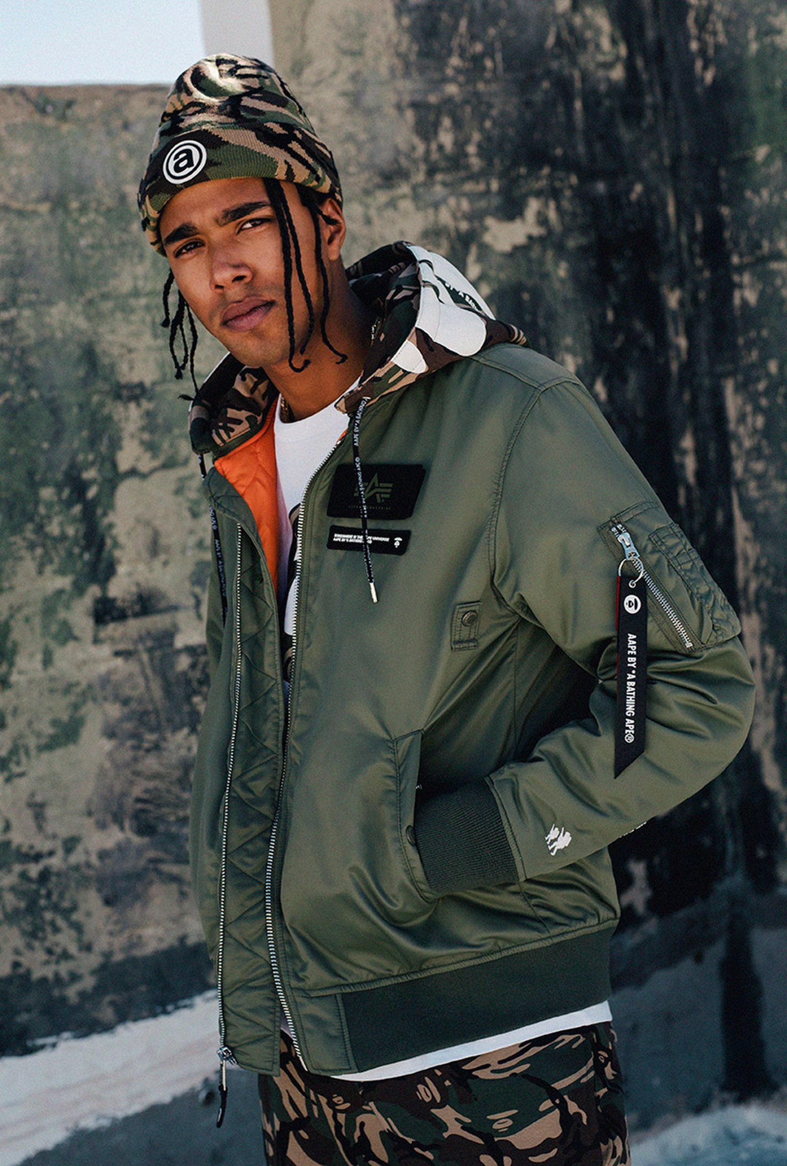 AAPE x Alpha Industries FW19 collection