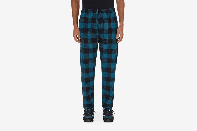 Buffalo Plaid String Slack Pants