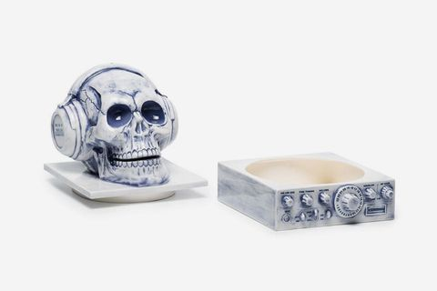 Skull With Headphones Incense Burner