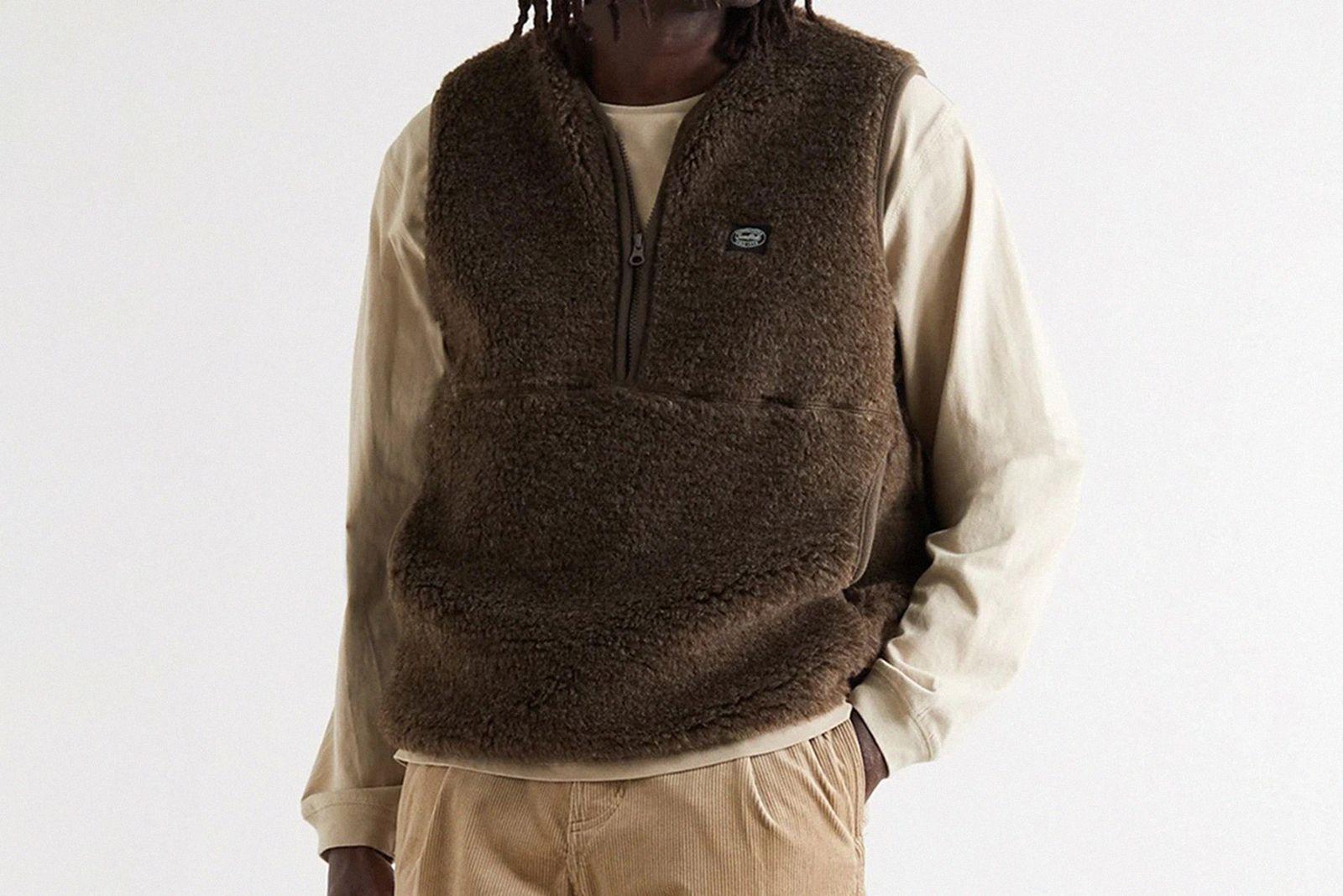 winter vests brown image